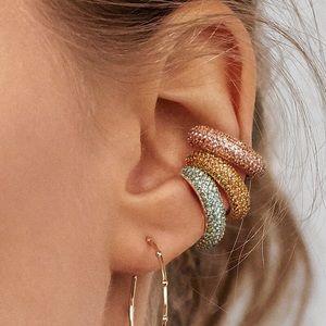 NWOT Anthropologie Orange Crystal Earrings
